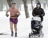 бег зимой, одежда для бега зимой